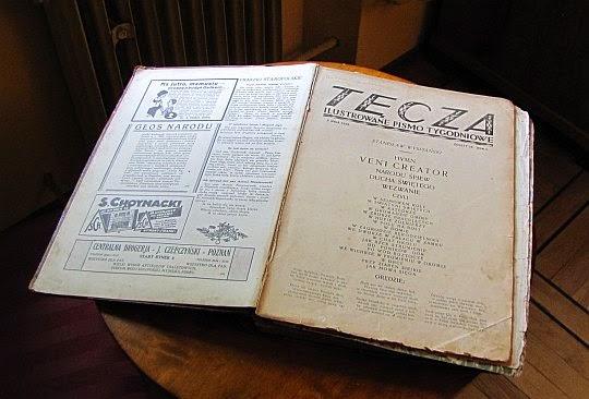 """Egzemplarz pisma """"Tęcza"""", którego Zegadłowicz był współredaktorem w latach 1928-1929."""