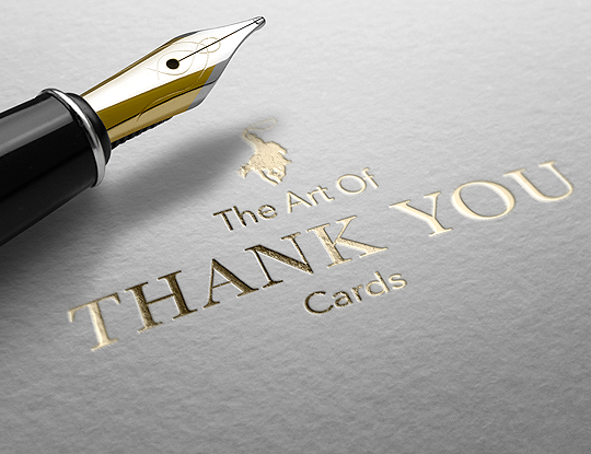 The art of thank you cards