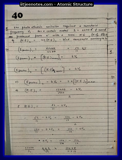 Atomic Structure Notes IITJEE7