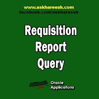 Requisition Report Query, www.askhareesh.com