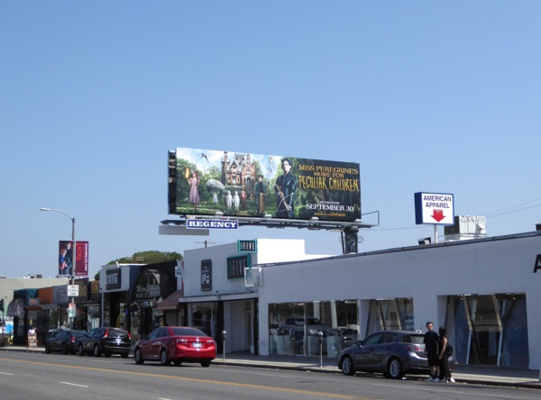 Miss Peregrines Home for Peculiar Children billboard