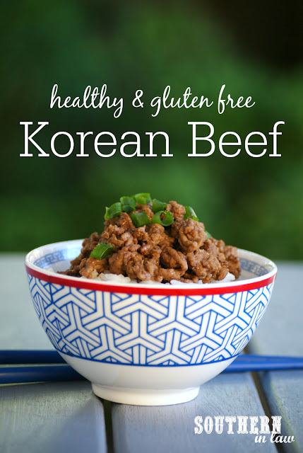 Healthy Korean Beef Recipe - stir fry with beef mince, healthy ground beef recipes, low fat, gluten free, high protein, clean eating, sugar free, paleo