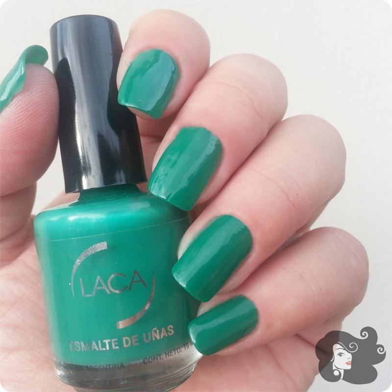 Laboratorio LACA - Menta, Verde Glam y Top Coat no Chip ~ by Gladiola