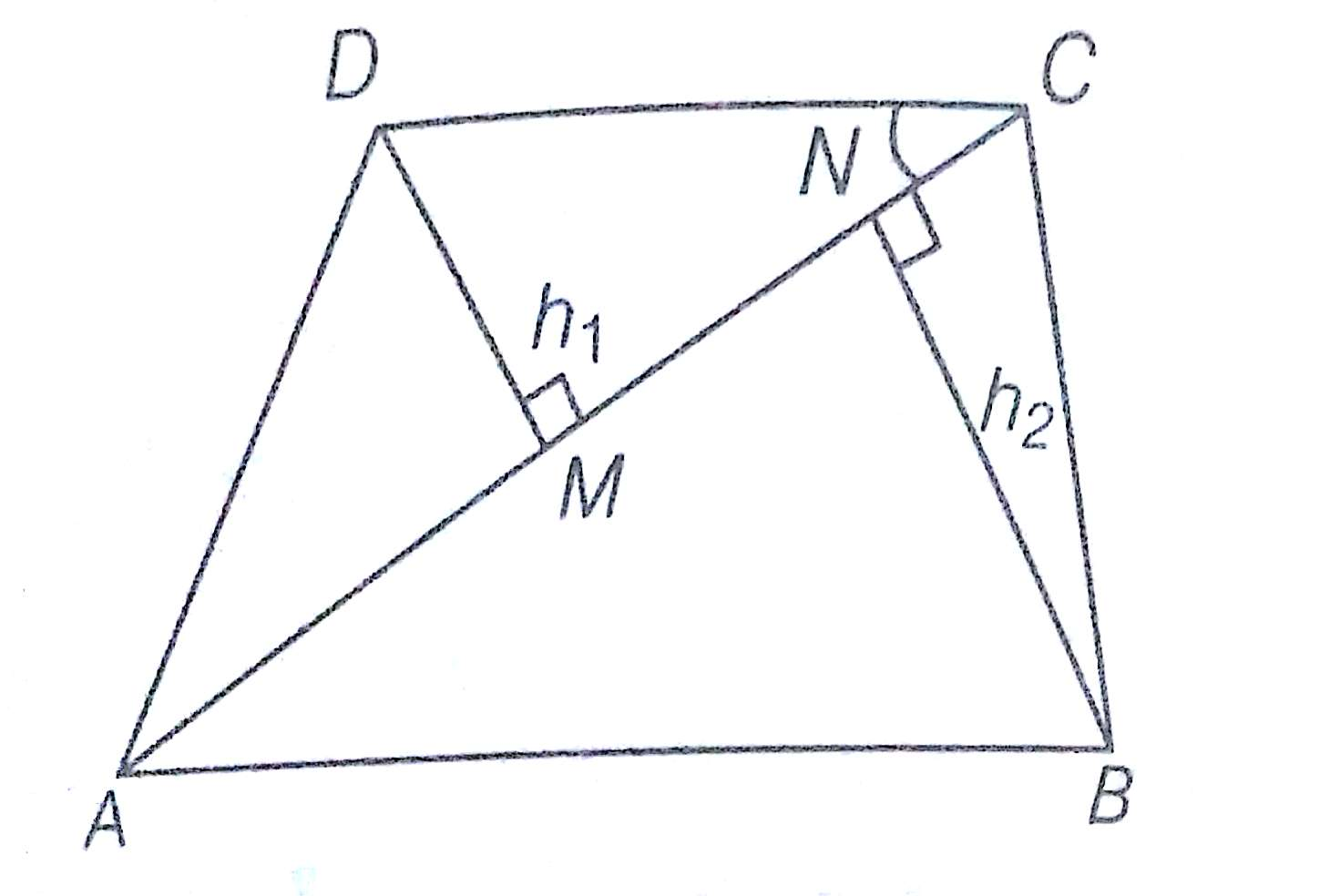 how to find the area and perimeter of a quadrilateral