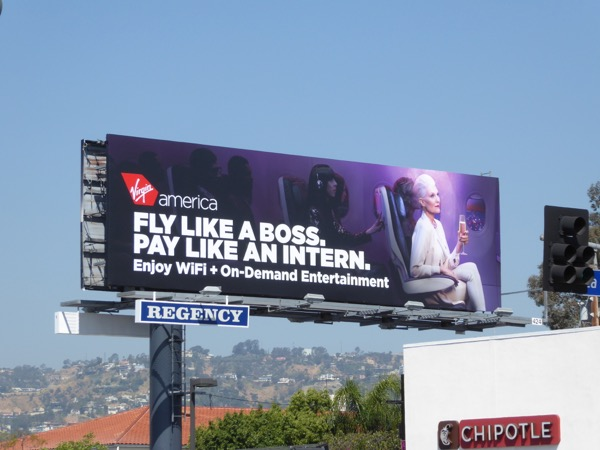 Virgin America Fly like a boss Pay intern billboard