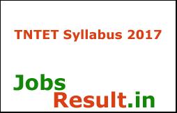 TNTET Syllabus 2017