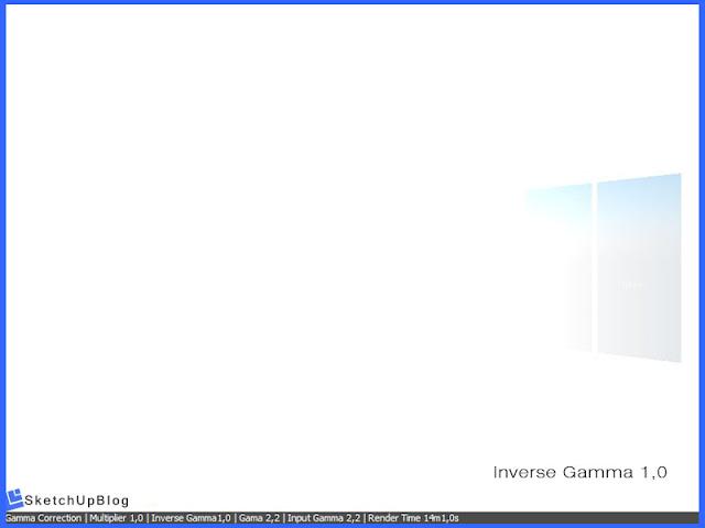 Cara setting Gamma Correction Color Mapping vray sketchup 2.0 - Inverse Gamma 1,0