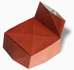 Hướng dẫn cách gấp giấy Origami - Hình cái ghế đơn giản