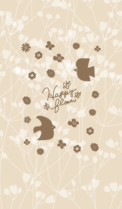Happy flower-Brown Bird-