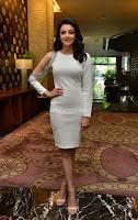 Beautiful Smiling Kajal Aggarwal in Creamy White Gown at MLA Telugu Movie Success Meet ~ .com Exclusive Pics 002.jpg
