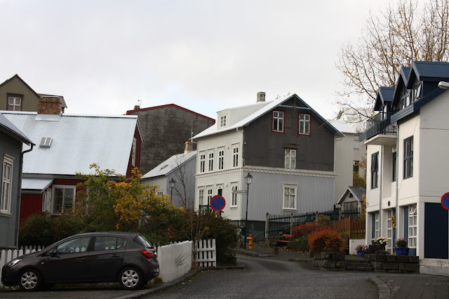 City streets in Reykavik, Iceland