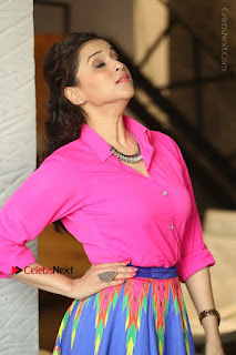 Actress Mannar Chopra in Pink Top and Blue Skirt at Rogue movie Interview  0016.JPG