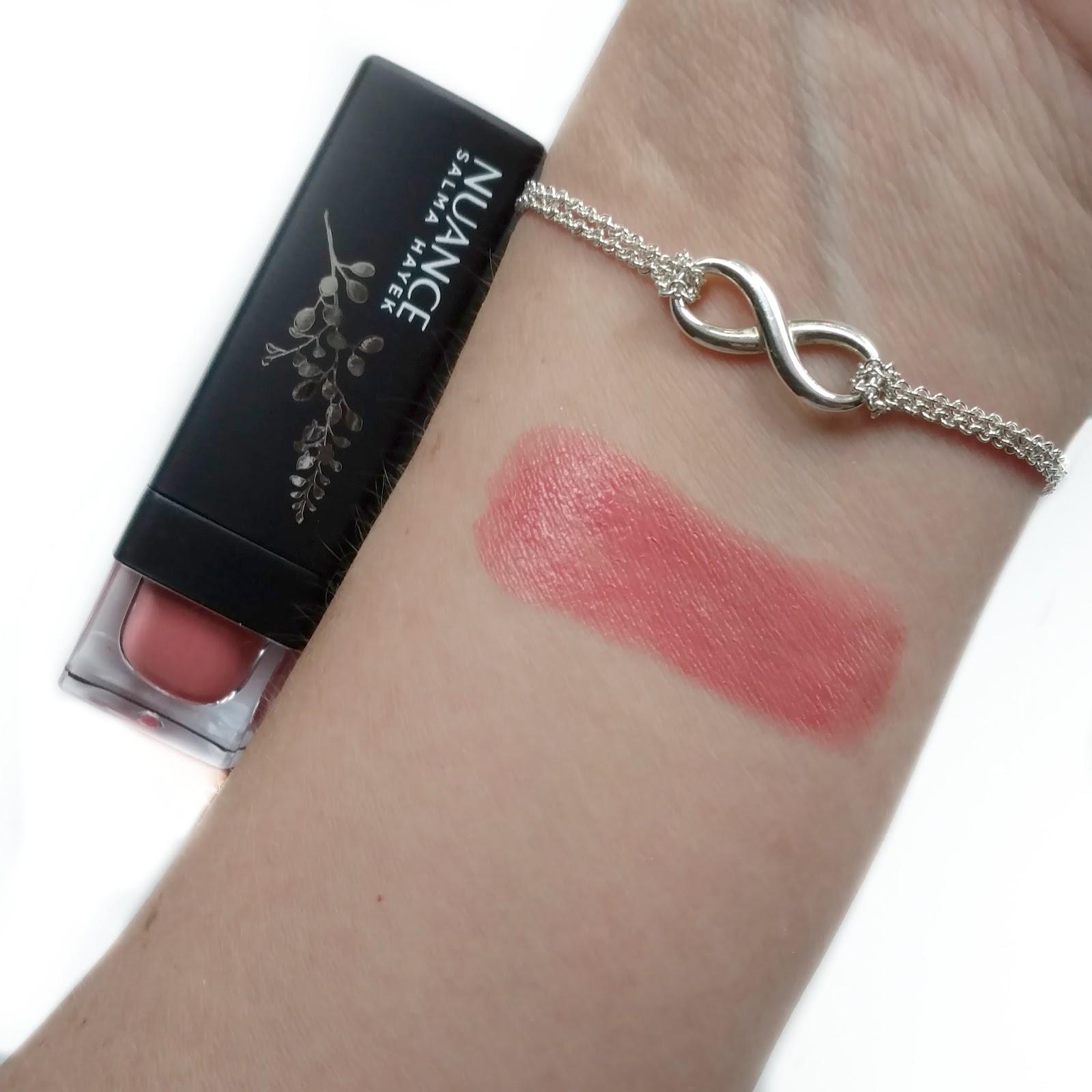 nuance salma hayek lipstick swatches