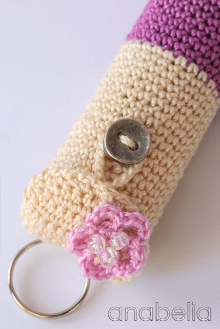 Lipstick crochet case 3 by Anabelia