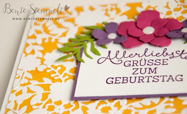 Stampin Up Framelits Blühendes Herz Bloomin Heart Pflanzen Potpourrie Botanischer Garten Geburtstagsblumen