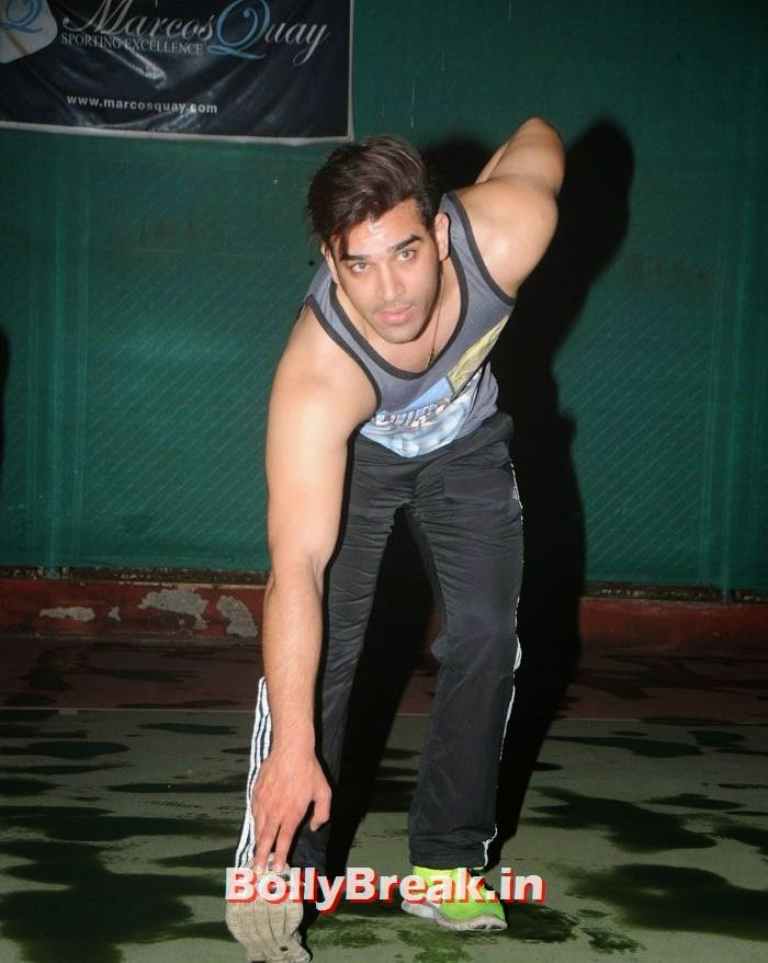 Paras Chhabra, Pics from BCL Team Rowdy Bangalore Practice Match