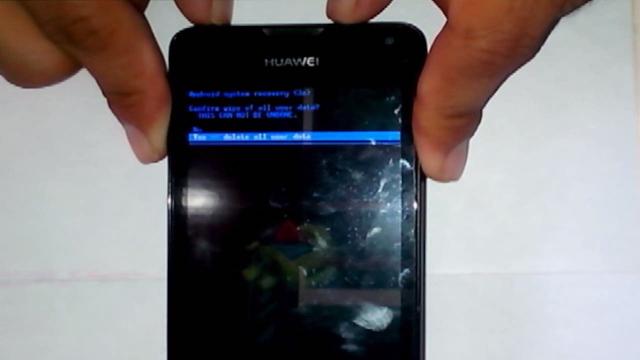 resetear la configuración Huawei Y300