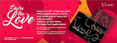 Times Bookstore Malaysia Free Supplementary Member Card Promo