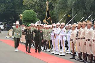 Tingkatkan Kerjasama Militer, Kasad Laos berkunjung ke Mabes TNI AD