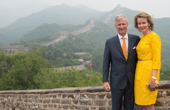 Queen Mathilde and King Philippe of Belgium visited the Great Wall of China in Badaling