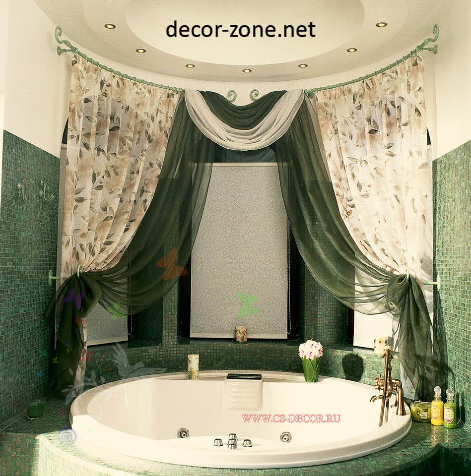 modern bathroom shower curtains