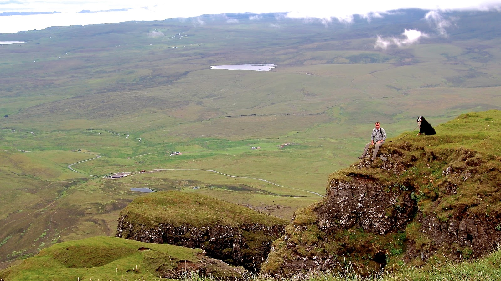 Hiking atop the Quairaing on the Isle of Skye