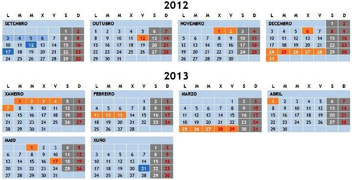 Calendario Escolar Xunta.O Blog De Felipe P E S Calendario Escolar 2012 2013 Dog Xunta