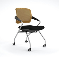 flip seat nesting chair for training and collaboration