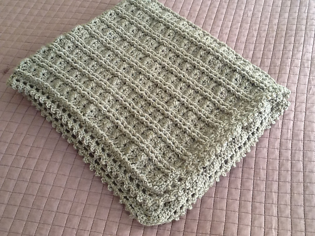 I M Going To Make It After All Dusty Green Dainty Baby Blankie