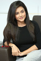 Telugu Actress Mishti Chakraborty Latest Pos in Black Top at Smile Pictures Production No 1 Movie Opening  0201.JPG