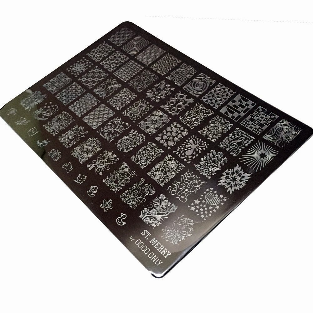 Lacquer Lockdown - GogoOnly Gogoonly, GogoOnly nail art stamping plate, St Merry, nail art stamping plates, nail art stamping blog, new nail art stamping plates 2015, new stamping plates 2015, cute nail art ideas