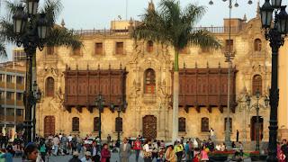 Palacio Arzobispal, no Centro Histórico de Lima
