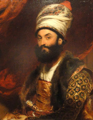 Mirza Abul Hassan Khan by Sir Thomas Lawrence (1810)  in Fogg Art Museum  Photo by Daderot CCO via Wikimedia Commons