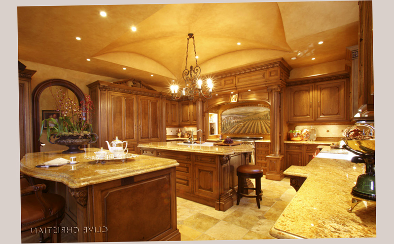 Extensive Room For Gourmet Kitchen Designs Pictures With 2 Table In The  Midle