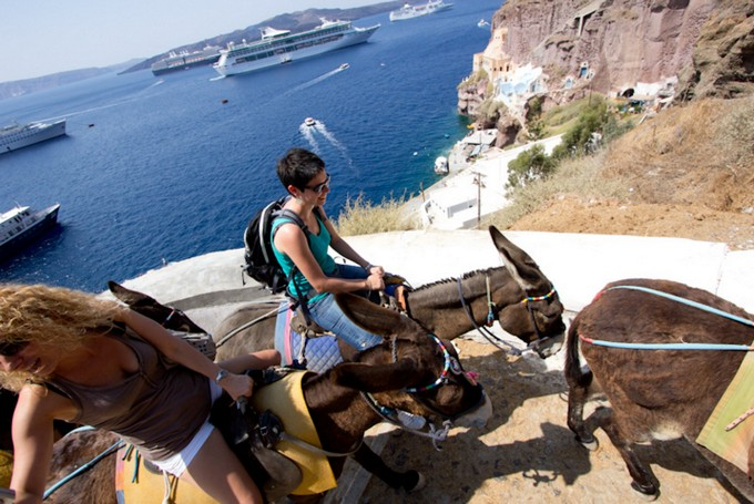 The 10 Best Things To Do In Santorini Island - Take a Donkey ride in Fira