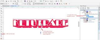 hasil 3D menggunakan tool Extrude