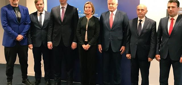 Federica Mogherini met Western Balkan leaders in Brussels