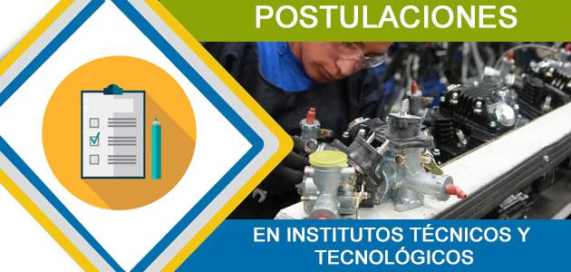 Postulaciones Lista de Institutos Técnicos y Tecnológicos 2017 Ecuador SNNA