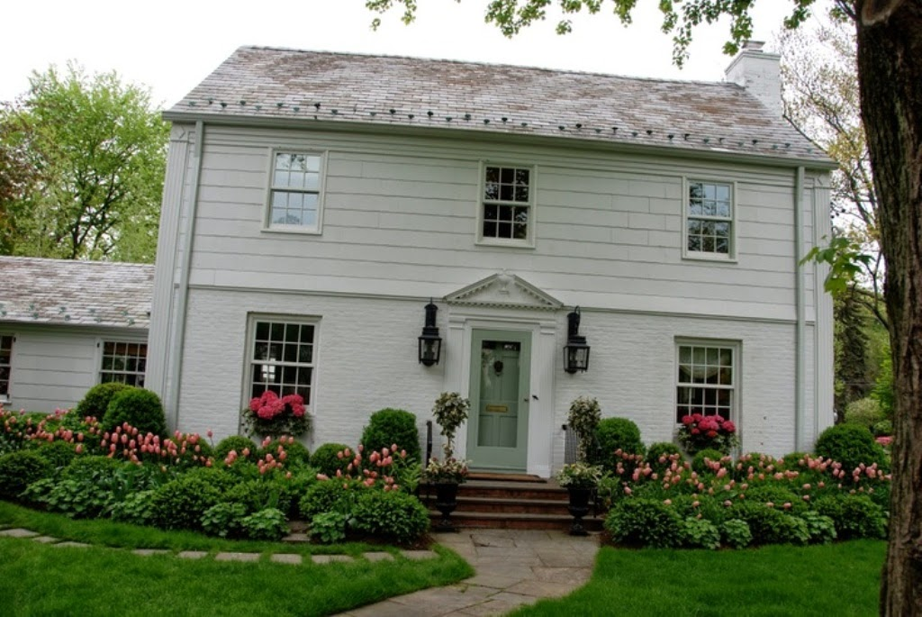 Colonial House Landscaping Ideas Front Landscaping