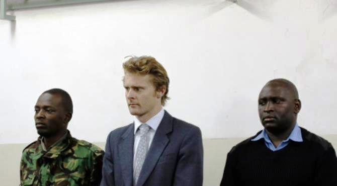 """British national Jack Marrian (C), was charged after police in Mombasa seized 100 kilos of cocaine hidden in a sugar consignment ordered by his firm. By (AFP)  Nairobi (AFP) - A British sugar trader facing charges of trafficking cocaine worth $5.8 million was bailed on Monday by a Nairobi court, with his lawyer declaring """"the wrong man"""" was being targeted over a tampered shipment from Brazil."""