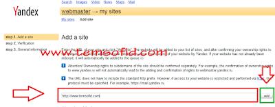Cara Daftar Domain ke Yandex Webmaster 1