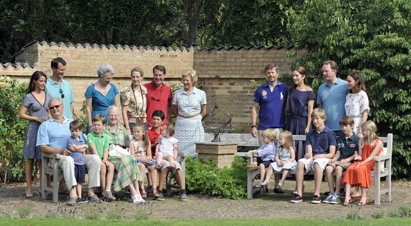 Crown princess Mary, Princess Marie posed for the media at the annual photo session at Grasten Slot