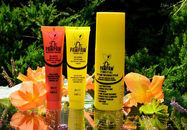 Dr. PAWPAW uniwersalne produkty do ust, skory, paznokci i włosów - Original Balm, Pink Balm oraz It Does It All 7 in 1