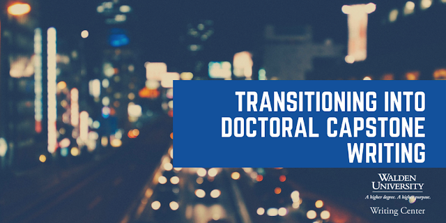 Transitioning into doctoral capstone writing
