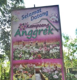 Papan Nama Kampung Anggrek Kediri