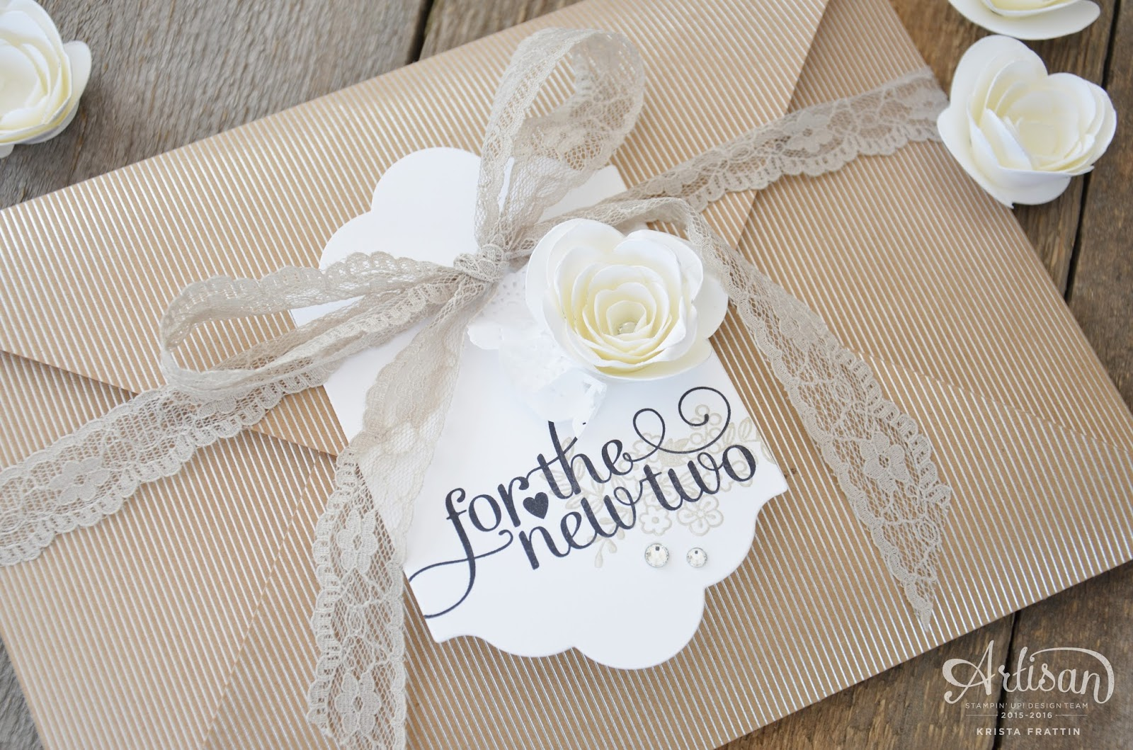 How To Wrap A Wedding Gift: Stampin' Dolce: Wedding Gift Wrap- Fancy Friday Blog Hop