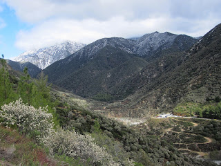 View north toward Heaton Flat East Fork San Gabriel River from Shoemaker Canyon Road, Angeles National Forest, February 20, 2011