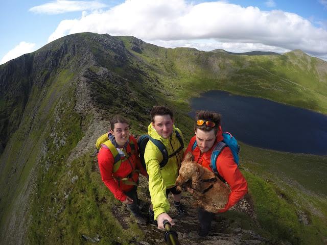 Striding edge, Helvellyn, dangerous, Lake District, Scramble, climb, dog, Go Pro, GoPro, Ridge, Arete, UK, Britain, British Mountains, death, fall, fell walking, England, Glenridding beck, canyoning, canoeing, Ullswater, Red Tarn, selfie, ultimate selfie,