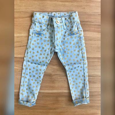 Calça jeans infantil no atacado