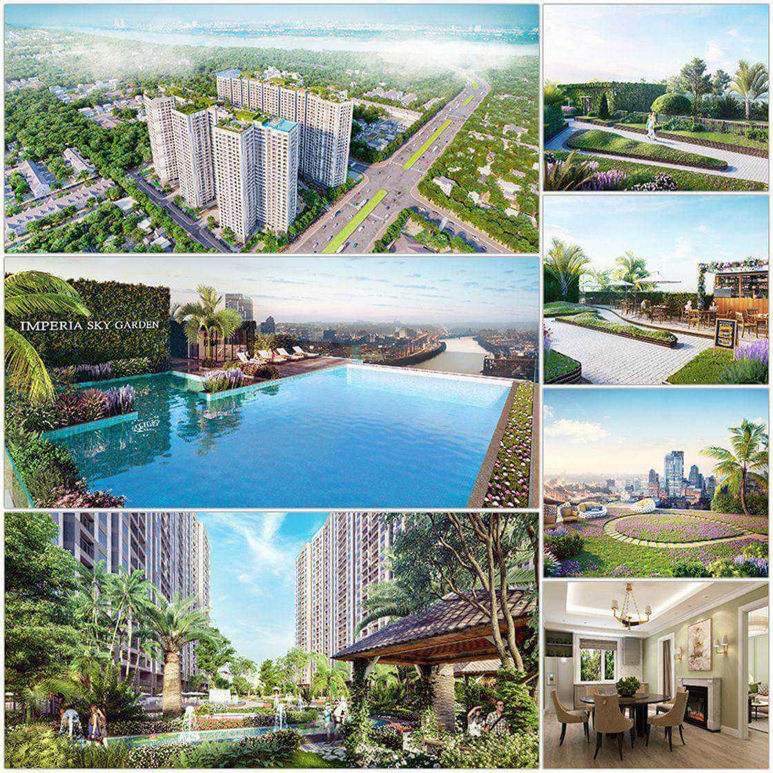 Hệ thống cảnh quan tiện ích tại dự án chung cư Imperia Sky Garden 423 Minh Khai